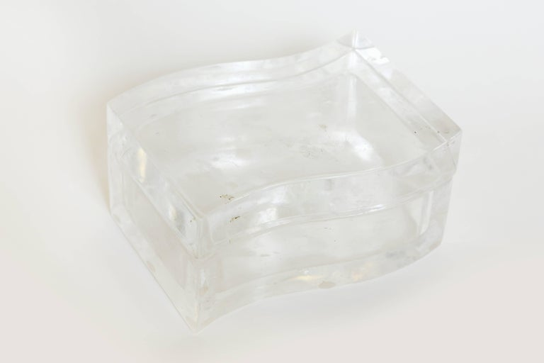American Robert Kuo Rock Crystal Box For Sale