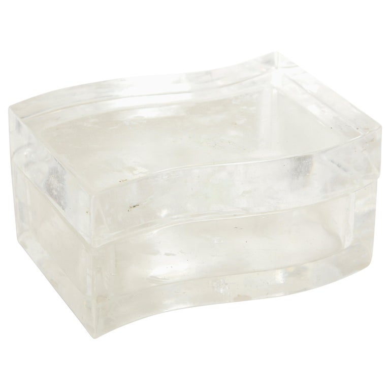 Robert Kuo Rock Crystal Box For Sale