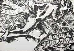"""Paris Review"", Lithograph by Robert Kushner"