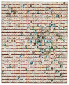 Oh Thank Heaven, 2010, Robert Larson, Discarded 711 Matchbooks, Linen, Abstract