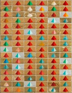 Pyramids (Avenue of the Dead), Robert Larson, 2018, Cigarette Packaging, Linen