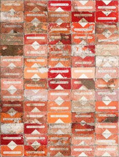 Red Filter, 2015, Robert Larson, Discarded cigarette packaging, Canvas, Abstract