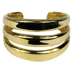 Robert Lee Morris Gold tone Modernist Cuff Never Worn 1980s