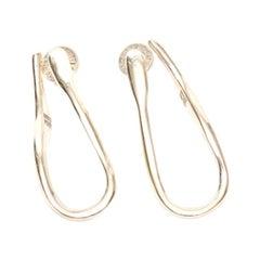 Robert Lee Morris Sterling Silver Sculptural Pierced Earrings