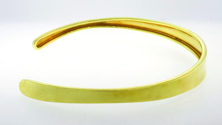 Robert Lee Morris Yellow Gold Choker Necklace In Excellent Condition In Beverly Hills, CA