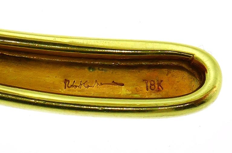 Robert Lee Morris Yellow Gold Choker Necklace 2