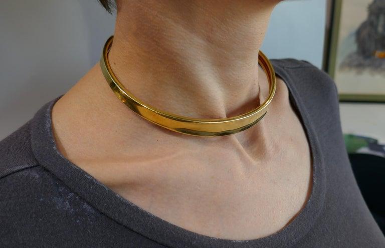 Robert Lee Morris Yellow Gold Choker Necklace 3
