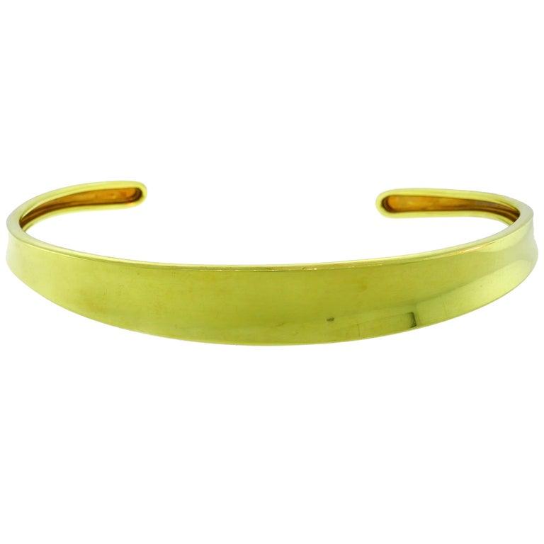 Robert Lee Morris Yellow Gold Choker Necklace