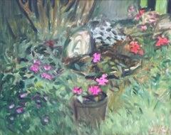 Bird Bath, Painting, Oil on Canvas