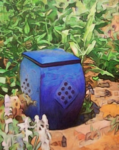 Blue Urn, Painting, Oil on Canvas