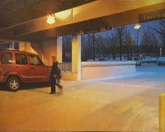 Garage, Painting, Oil on Canvas