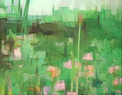 Green Scene, Painting, Oil on Canvas