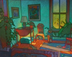 The Green Room, Painting, Oil on Glass
