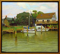 Town Dock, Painting, Oil on Canvas