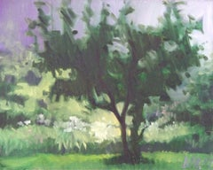 Tree In The Mist, Painting, Oil on Canvas