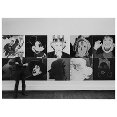 "Robert Levin, ""Andy Warhol at R. Feldman Gallery with Myths, 1981"", USA, 2015"
