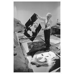 "Robert Levin, ""Andy Warhol Holding Dracula Myth, 1981"" Framed Print, USA, 2015"