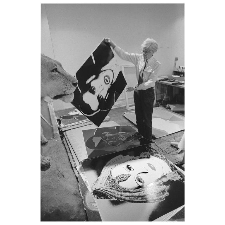 "Robert Levin, ""Andy Warhol Holding Dracula Myth, 1981"" Print, USA, 2015 For Sale"