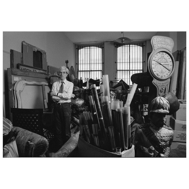 """Robert Levin, """"Andy Warhol in Storage Room, 1981"""", Print USA, 2015 For Sale"""