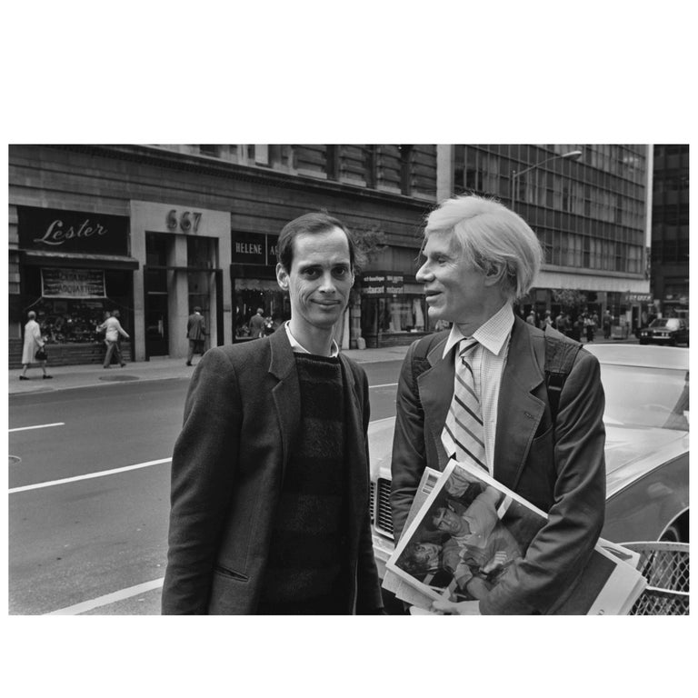 "Robert Levin, ""Andy Warhol & John Waters on Madison Ave, 1981"" Print, USA, 2015 For Sale"