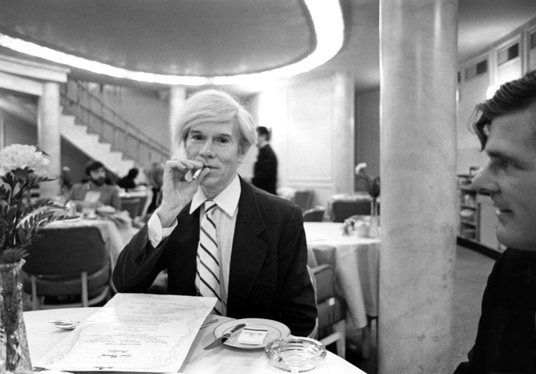 Unframed. Printed by the photographer.  Artist certificate included.  In the spring of 1981, Levin was on assignment for the German magazine, Stern, to capture a moment in time in Warhol's life – trailing him while at work at The Factory, and