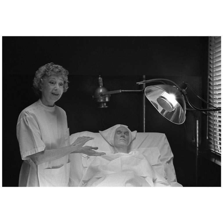 "Robert Levin, ""Andy Warhol with Janet Sartin Getting Facial"", Framed Print, 2015 For Sale"