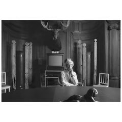 """Robert Levin, """"Andy Warhol with Moose, Totems, in Factory 1981"""" Print, USA, 2015"""