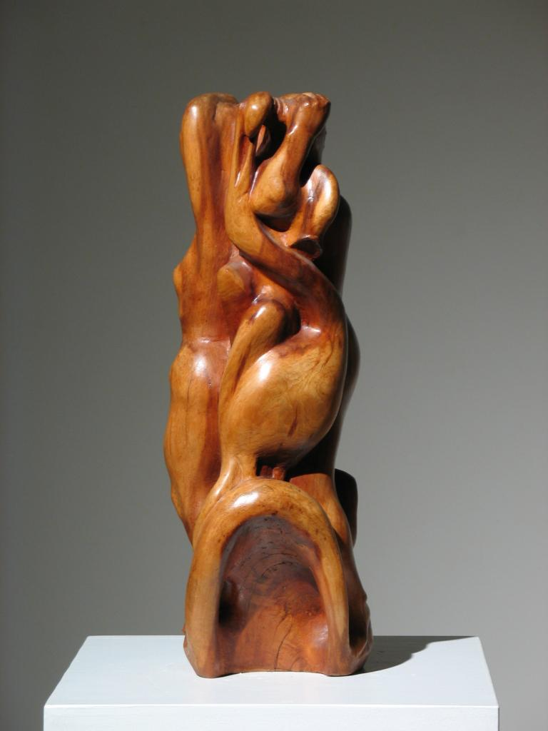 Two Women Wood Sculpture For Sale 4
