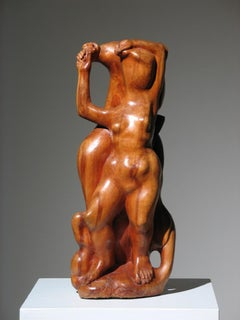 Two Women Wood Sculpture
