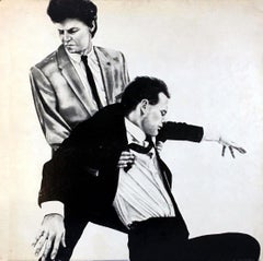 Robert Longo Men In The Cities record art 1981 (vintage Robert Longo)