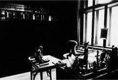 Robert Longo, View of Study Room, with Books, Desk, Window (Freud Cycle, 1938)