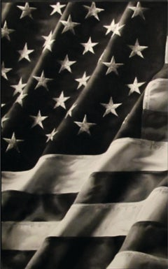 Robert Longo Old Glory Major Large Framed Black and White Archival 2011