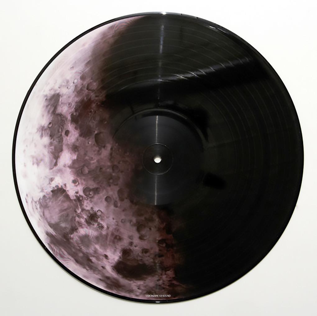 Robert Longo Vinyl Record Art (Robert Longo moon)