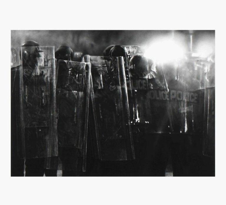Robert Longo Figurative Print - Untitled (Riot Cops)