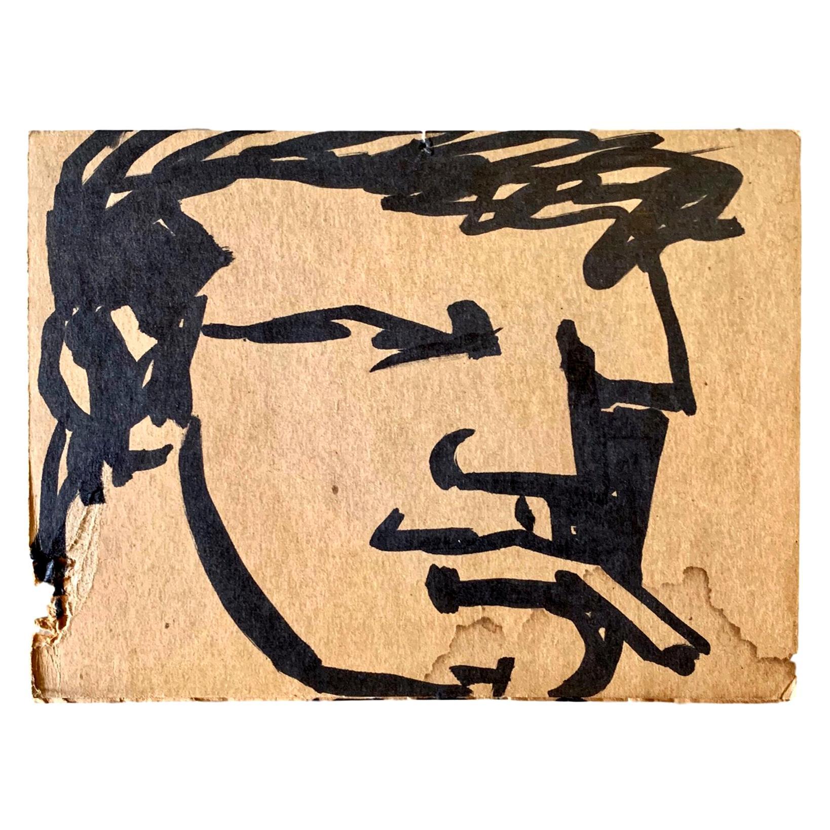 Robert Loughlin Original Drawing on Cardboard