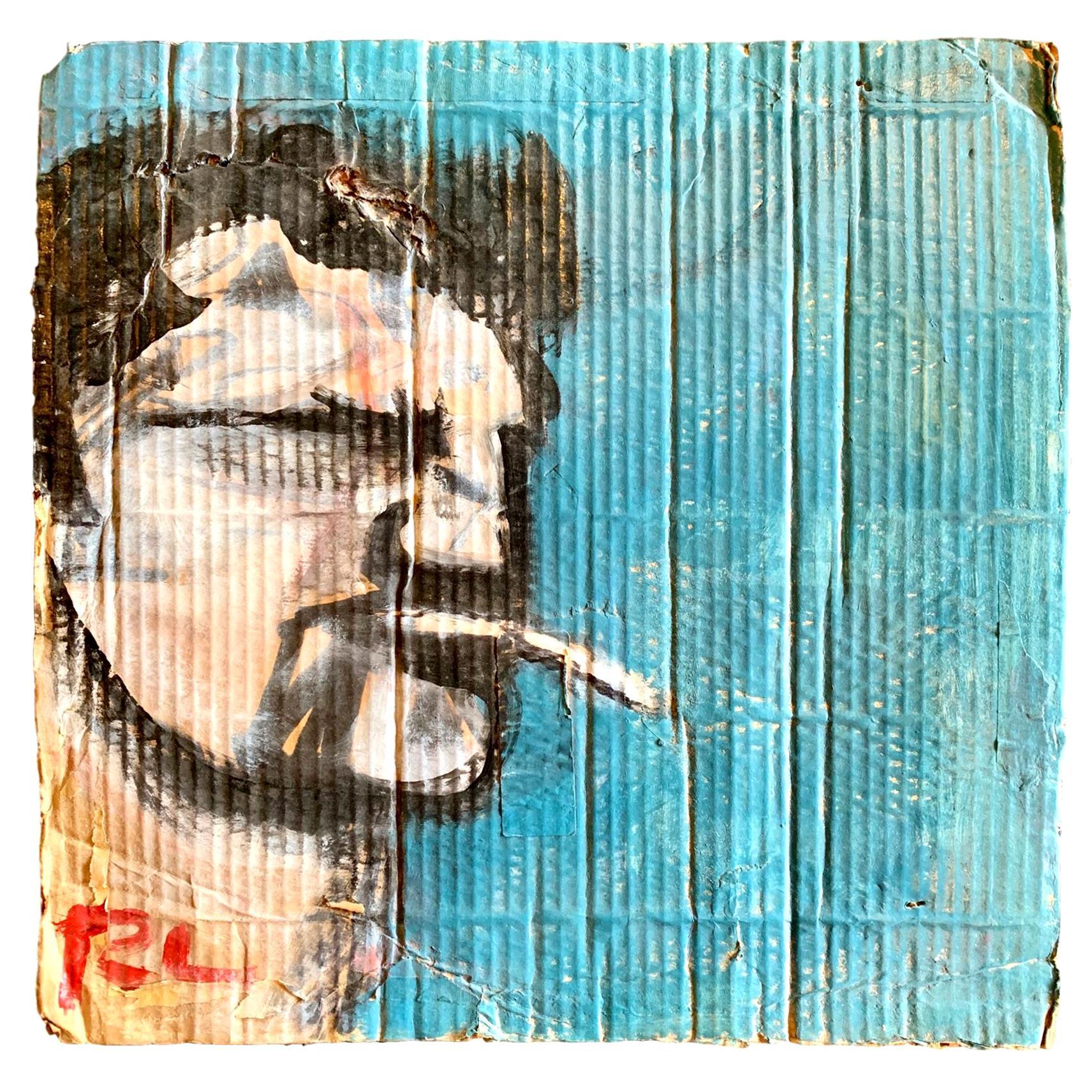 Robert Loughlin Original Painting on Cardboard
