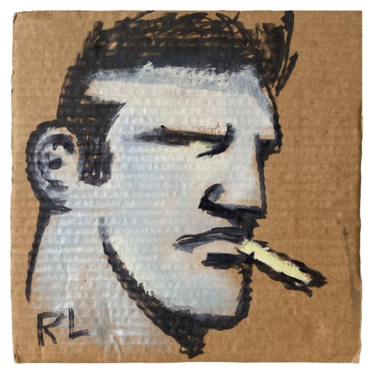 """Robert Loughlin Painting """"Kid With A Smoke"""" For Sale"""