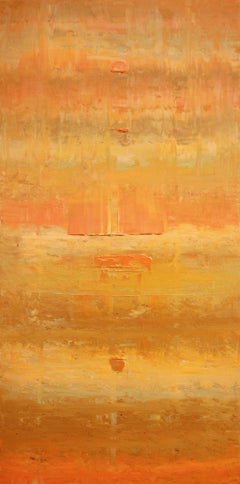 Abstract Gold Orange Ochre Concept, Painting, Acrylic on Canvas