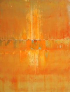 Bold Orange Concept Abstract, Painting, Acrylic on Canvas