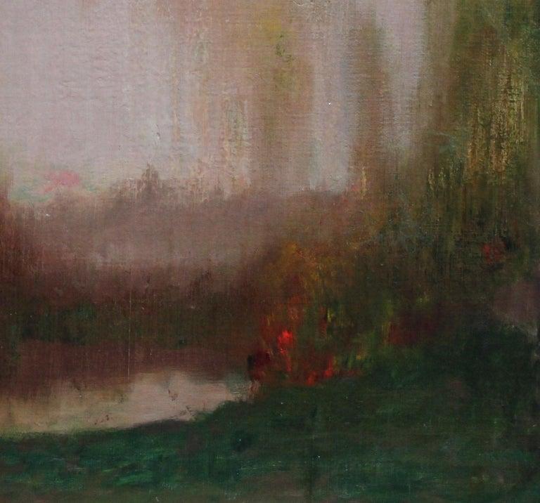 River Landscape - Scottish Glasgow Boys Impressionist Victorian art oil painting For Sale 7