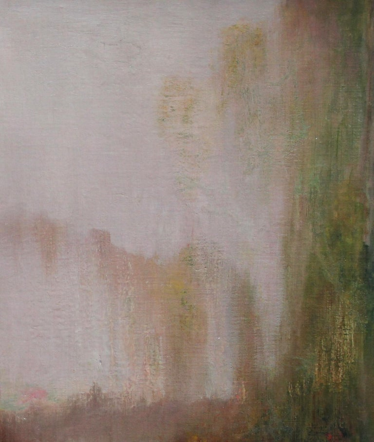 River Landscape - Scottish Glasgow Boys Impressionist Victorian art oil painting For Sale 8