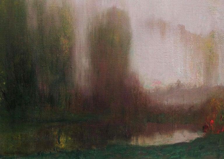 River Landscape - Scottish Glasgow Boys Impressionist Victorian art oil painting For Sale 9