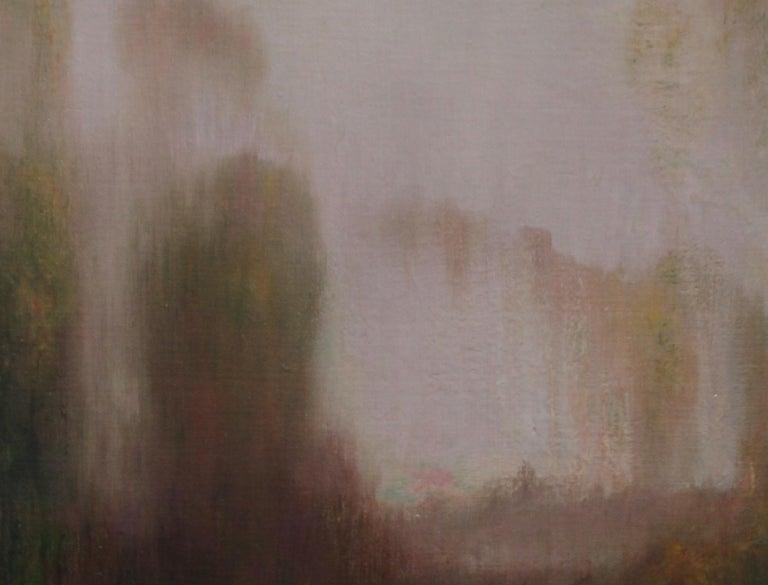 River Landscape - Scottish Glasgow Boys Impressionist Victorian art oil painting For Sale 10