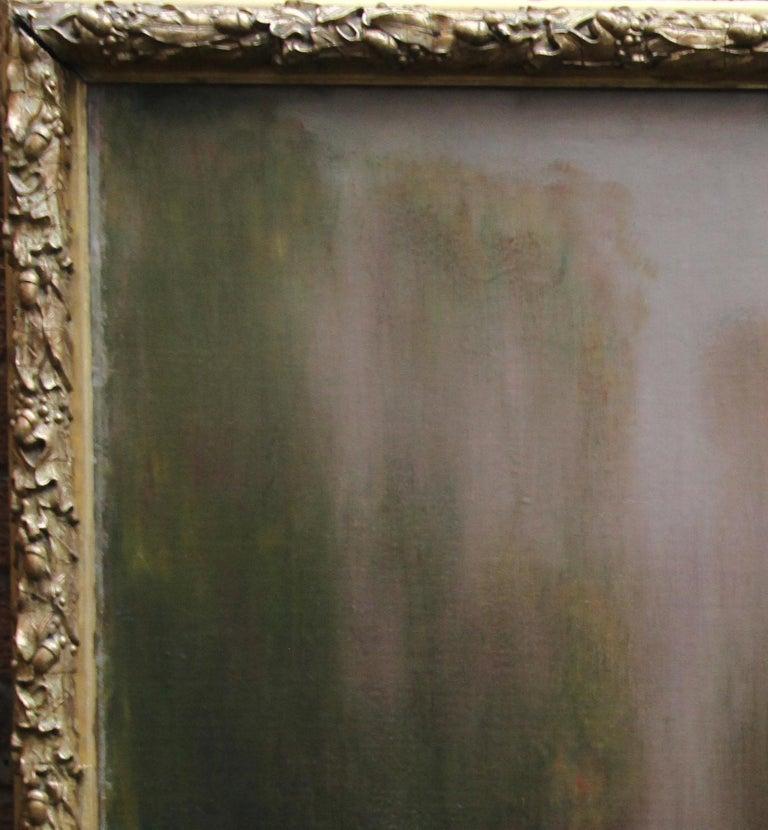 River Landscape - Scottish Glasgow Boys Impressionist Victorian art oil painting For Sale 12