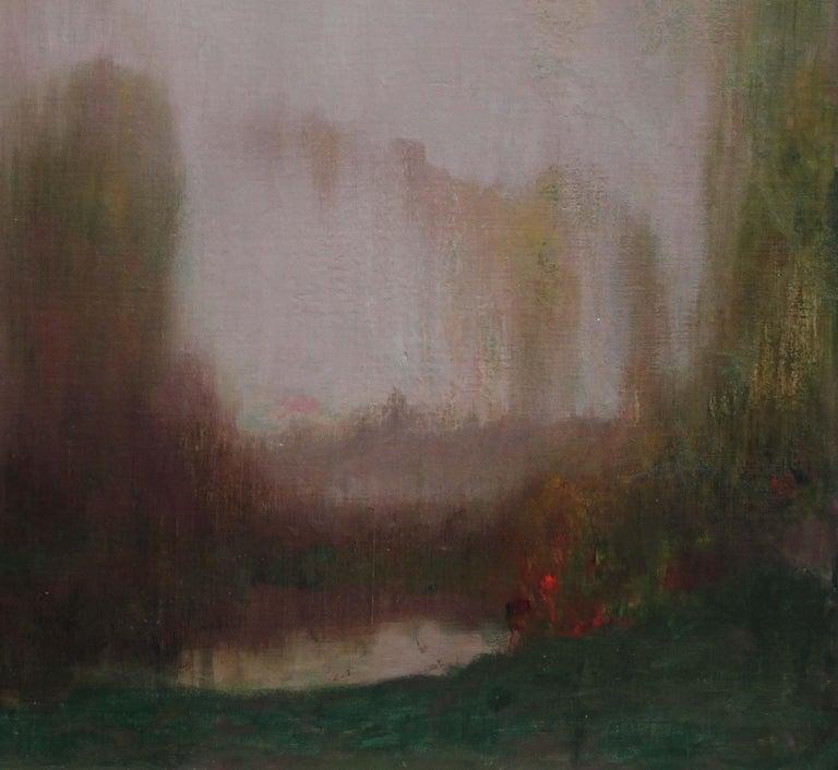 River Landscape - Scottish Glasgow Boys Impressionist Victorian art oil painting For Sale 3