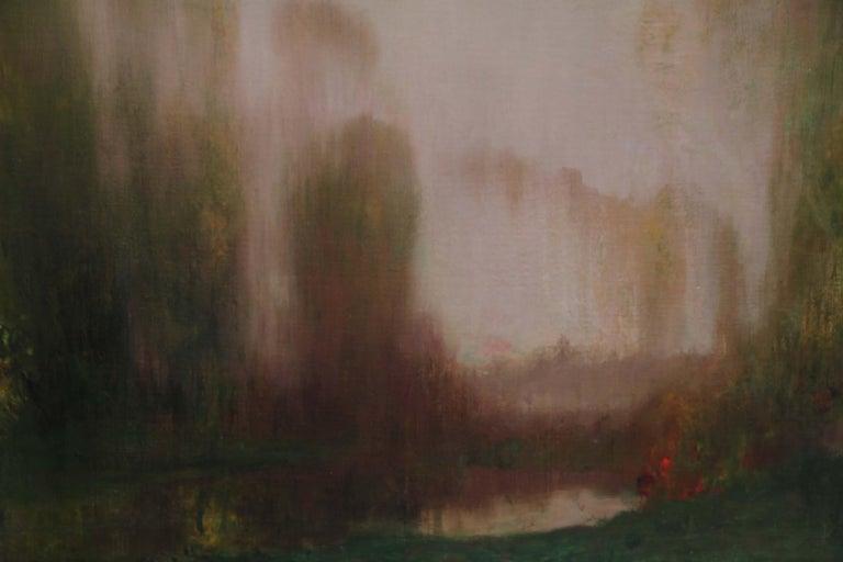 River Landscape - Scottish Glasgow Boys Impressionist Victorian art oil painting For Sale 4