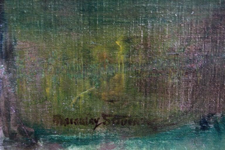 River Landscape - Scottish Glasgow Boys Impressionist Victorian art oil painting For Sale 6