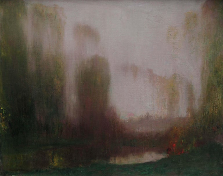 River Landscape - Scottish Glasgow Boys Impressionist Victorian art oil painting For Sale 5