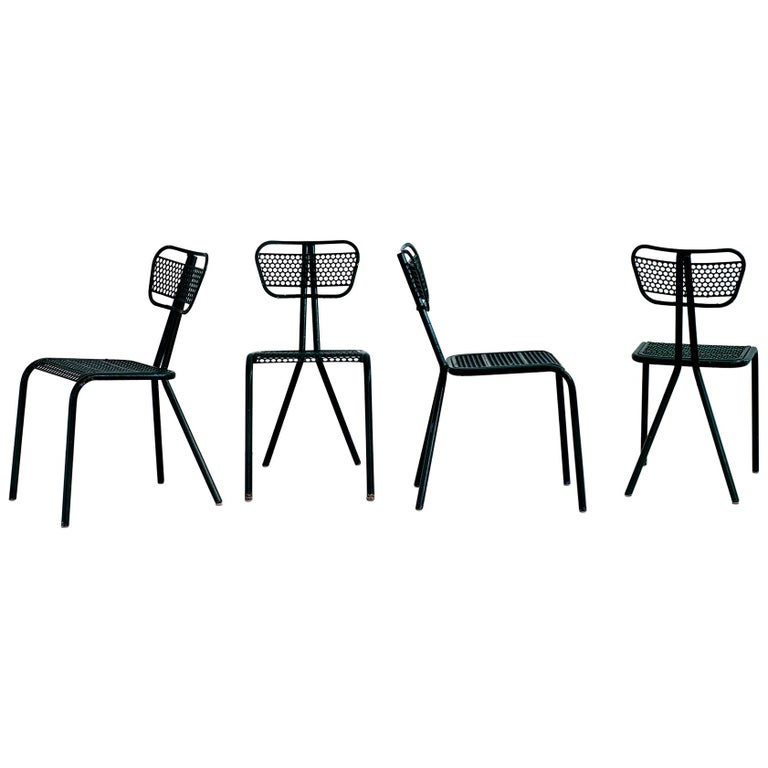 Robert Malaval Chairs, Set of 4 For Sale