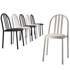 Robert Mallet-Stevens Bicolor Set of Six Tubular Steel Chairs